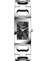s.Oliver Damen-Armbanduhr XS Analog Quarz Edelstahl SO-2799-MQ