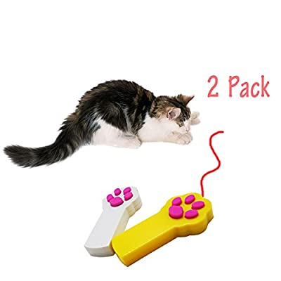 Baby Pet®Cat Interactive LED Light Pointer Cat Exercise Chaser Toys Pet Scratching Training Tool(2 Pack)