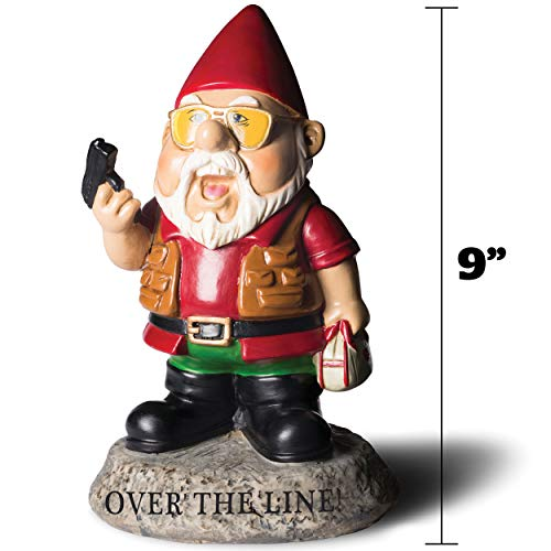 "Bigmouth INC ""Over the Line."" Garden Gnome Statuen - 4"