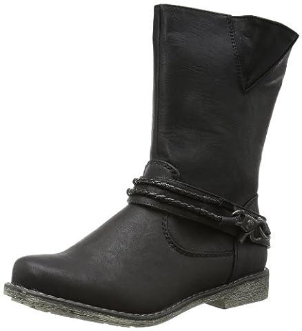 Rieker 98868, Damen Biker Boots, Schwarz (schwarz/schwarz 00), EU 39