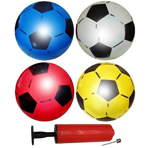 12 Balones Fútbol Inflables PVC - Incluye bomba inflar