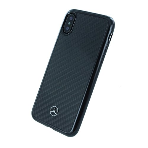 Mercedes-Benz Hard Cover Real Carbon Fiber Black, Dynamic Line FÃ ¼ r iPhone X, mehcpxrcabk, Blister