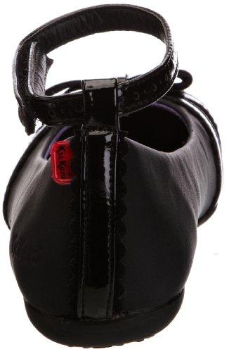Kickers Verda Strappy Yf, Ballerines plates fille Noir - noir