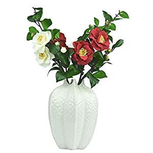WZHFAKEFLOWER Arreglo De Flores De Camelia Artificial con Muchas Cabezas De Té Rosa Decoración para El Hotel Comedor Decoración De La Boda De Múltiples Tamaños (Size : A)