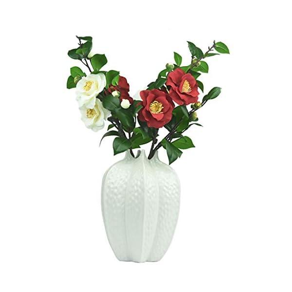 WZHFAKEFLOWER Arreglo De Flores De Camelia Artificial con Muchas Cabezas De Té Rosa Decoración para El Hotel Comedor…