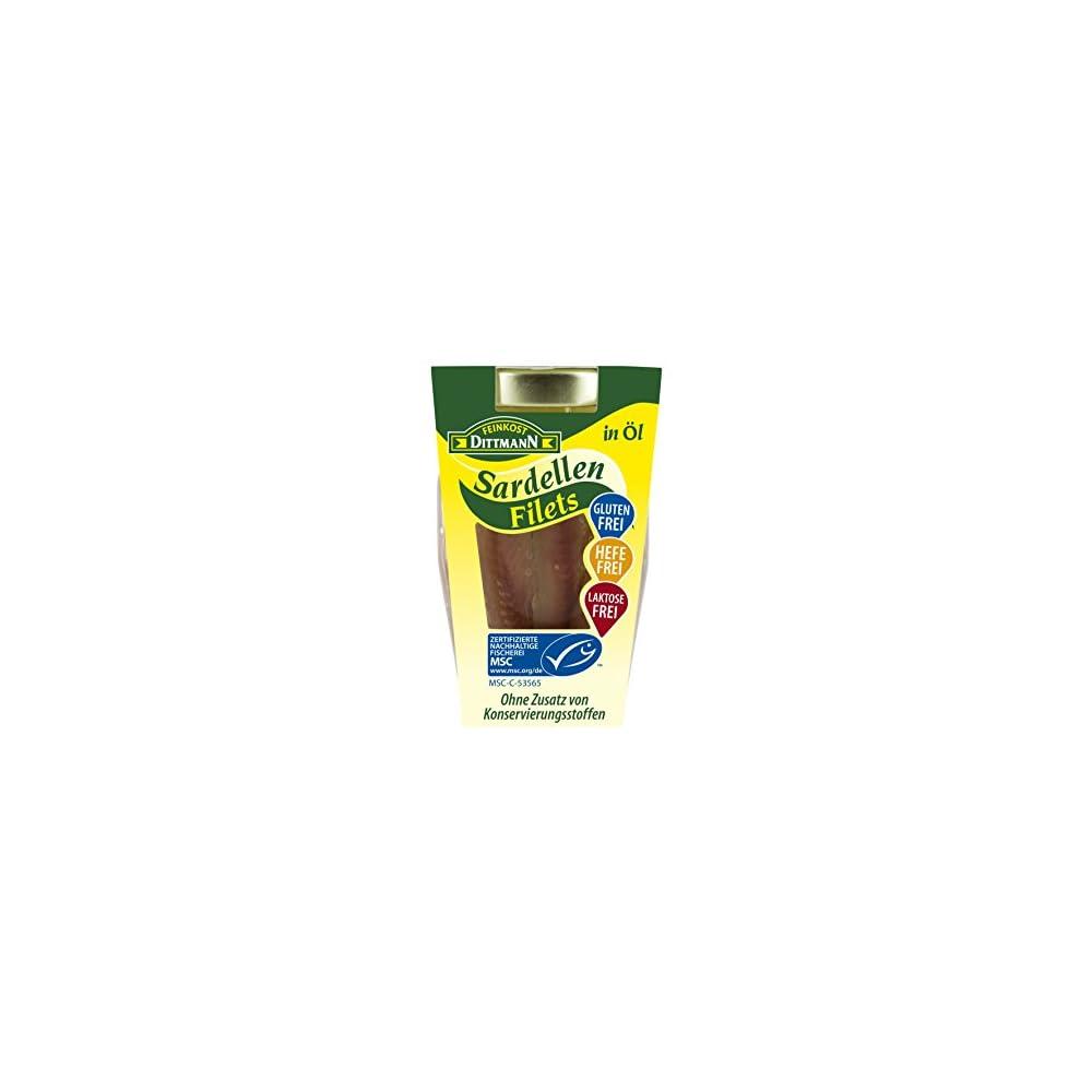 Feinkost Dittmann Sardellen In Sonnenblumenl Msc Zertifiziert 2er Pack 2 X 80 G