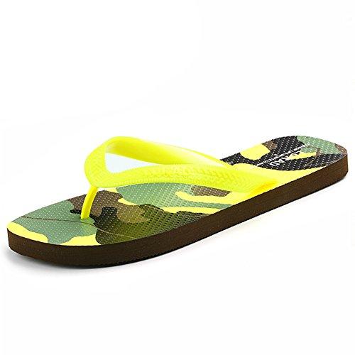 Camouflage couples tongs/Dames et hommes pincer sandales en été/Flat slip sandales et pantoufles D