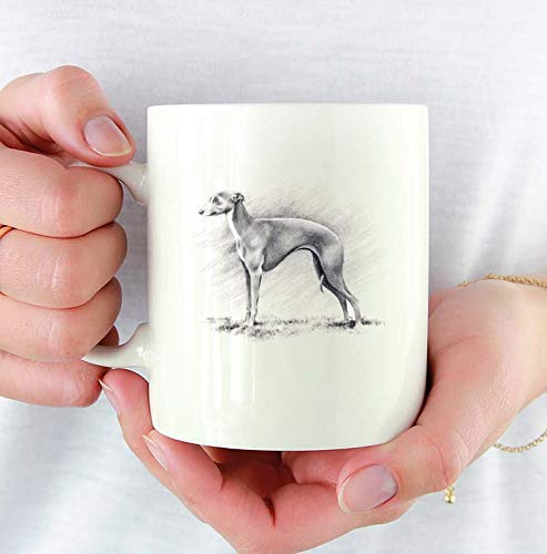 Italian Greyhound Custom 11oz Mug with Dog Art Featuring Watercolor Printed Coffee Mug Dog Lover Mug -