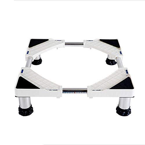 JHUEN Einstellbare Edelstahl Waschmaschine Basis für Wäschetrockner Kühlschrank und Gefrierschrank (Farbe: 8 Fuß, Größe: 10-14 cm) -