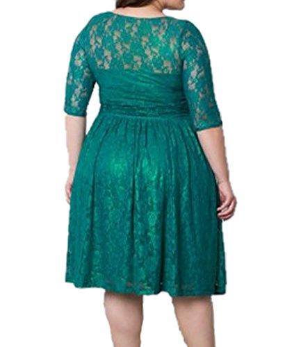 E-Girl EM118918D Vintage pin-up 50's robe de soirée,bal cocktail Rockabilly Swing,XL-XXXXXL Vert