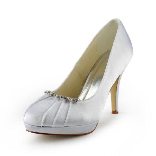 Jia Jia Wedding 37022 Scarpe Sposa Scarpe col tacco donna Bianco