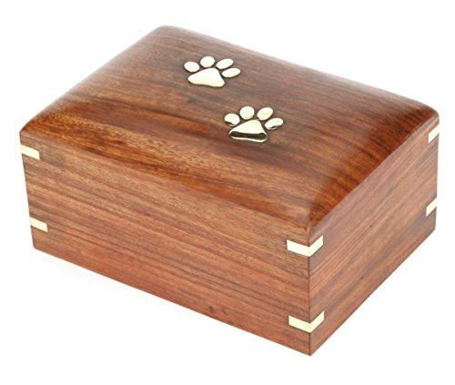 Hind Kunsthandwerk Rosewood Pet Urne Peaceful Gedenktafel für Haustiere Urne, Foto Box Urne für Hunde, Katzen, Andenken Urne für Asche, Holzbox Urne Medium : 7