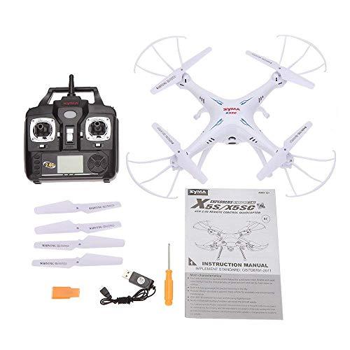 Syma X5SC Verbesserter Neue Version Syma X5SC-1 Falcon Drone HD 2.0MP Kamera 4-kanal 2,4 G Fernbedienung Quadcopter 6 Achse 3D Klapp Fliegen UFO 360 Grad Eversion Mit 4GB SD Karte – Weiß, x5sc-1 - 9