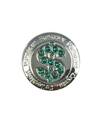 Parsaver Swarovski Kristallwelten Golf Ball-Marker - mit Hut-Gürtel-Clip - Deluxe-Dollar Design Ii - unvergleichliche Brillanz und Glanz auf den Grüns. Eine große Golf-Geschenk-Idee für ihn und ihn (Taylormade Golf-gürtel)