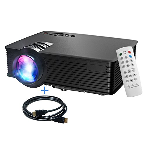 1200 lumens projector mpow mini led multimedia 120 screen for Mini led projector review