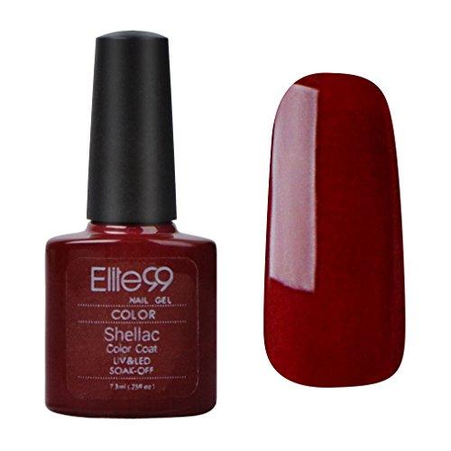 Elite99 Shellac UV LED Gel auflösbarer Nagellack 7.3ml Nagelgel Farbgel Farblack(1 x 7.3ml)