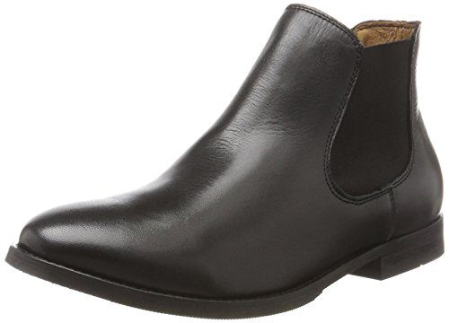 SELECTED FEMME Sfbeathe Leather Boot Noos, Bottes Chelsea Femme, Noir