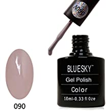 BLUESKY A090AAAA Serie Soak Off Gel Nagellack, 10ml, nude Stein