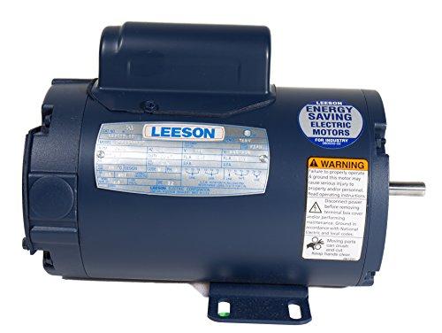Leeson 100700.00 Motor für Landwirtschaftsventilator, 1 Phase, 48 Y-Rahmen, starre Montage, 1/3 PS, 1625 U/min, 115/230 V Spannung, 60 Hz