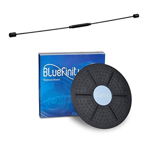 2 tlg. Gleichgewichts-Set, Swingstick für Vibrationstraining, Balance Board 36 cm, flexibler Schwungstab, Wackelbrett