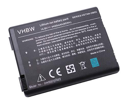 vhbw Batterie LI-ION 4400mAh 14.8V Noir Compatible pour COMPAQ Presario remplace 346970-001, 350836-001, 371914-001, 378858-001, 378859-001, DP399A