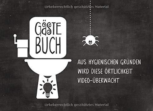 Gästebuch: Fürs Klo Lustig zum Ausfüllen Eintragen - Humor Buch Mit Kloordnung Regeln Sprüche Bilder - Gäste Eintragbuch Toilette - Originelle Geschenkidee Einzug