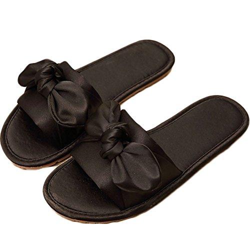 flip flops damen mit fu bett ZongsenC Damen Schuhe Bow Sommer Sandalen Slipper Indoor Outdoor Flip-Flops Strand Schuhe Schwarz 35-36
