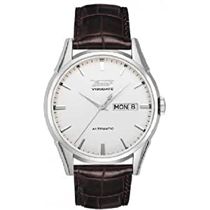 Tissot Visodate Automatic Leather Strap Watch - T0194301603100