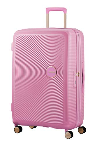American Tourister Soundbox - Spinner Large Expandable Koffer, 77 cm, 110 Liter, Pearl Pink/Gold