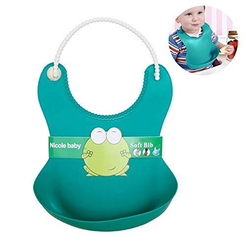 LWVAX Set of 3 Baby Bibs/Waterproof Silicone Pick Rice Bag Baby Bibs/Silicon Baby Bibs/Bibs Food Catcher