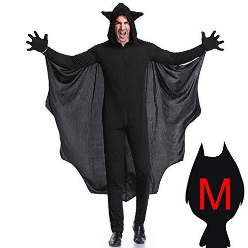flügel Vampirumhang Damen schwarz Vampir Cape Umhang Fledermaus Kostüm Zubehör Blutsauger Mäntelchen Batgirl Outfit Vampirin Eltern-Kind Kostüme für Männer Frauen Kinder ()