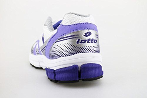 LOTTO sneakers donna tessuto pelle Bianco/Viola