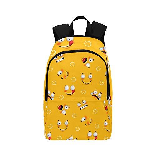 Smiley-Gesichts-Gesichts-zufälliger Tagesrucksack-Reisetasche College School-Rucksack für Männer und Frauen