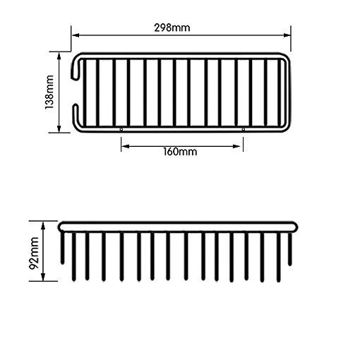KES A4023 Duschkorb aus Aluminum, rechteckig, Wandmontage - 2
