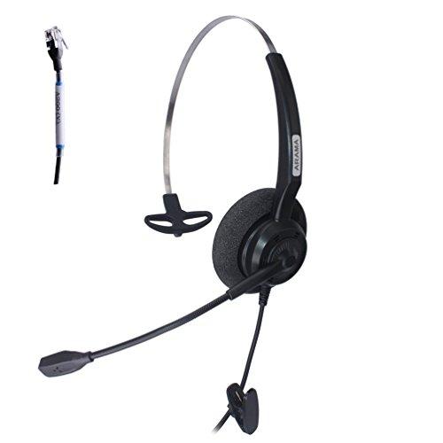Arama Wired Headset Monaural mit Noise Cancelling Mikrofon für Avaya 1616 9650...