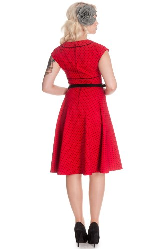 Ligne bunny robe robe nOREEN 4300 Rouge - Rouge