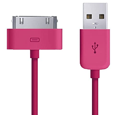 Xtra-Funky Exclusive 1 Meter Long High Quality Replacement 30 Pin USB Charger Data Sync Transfer (1 Gen Ipod Touch)