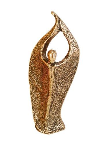 Hochwertige Engels-Figur »Der Engel des Lichts begleite dich« 8 cm aus Bronze! Der Lichtengel erhelle deinen Weg im Leben. Künstlerin: Andrea Zrenner - Golden Bronze 8 Licht