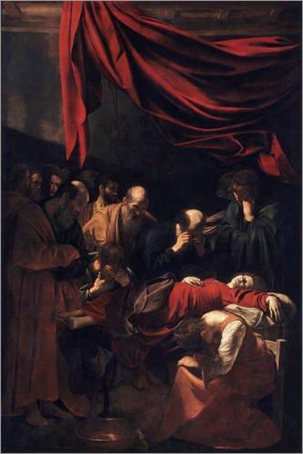 Posterlounge Cuadro de Aluminio 120 x 180 cm: Death of The Virgin de Polidoro da Caravaggio