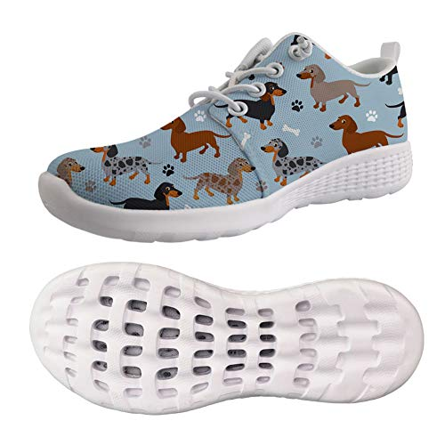 Showudesigns Dachshund Womens Water Shoes Sports Quick Dry Barefoot Diving Swim Surf Aqua Walking Beach Yoga for Summer Hawaii Beachwear Green