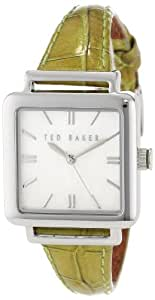 Ted Baker TE2017 Ladies White MOP Dial Hunter Green Leather Strap Watch