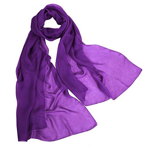 bbonlinedress Schal Chiffon Stola Scarves in verschiedenen Farben Grape 190cmX70cm