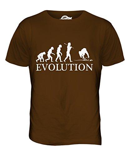 CandyMix Archäologie Evolution Des Menschen Herren T Shirt Braun