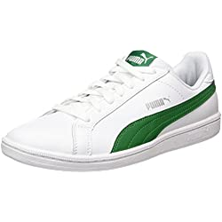 Puma Smash L, Zapatillas Unisex adulto, Blanco (White/Verdant Green), 37 EU