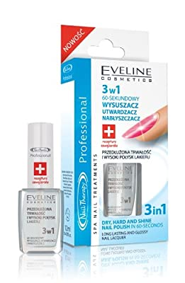 EVELINE 3 in 1 top coat dry, hard and shine nails 60 sec