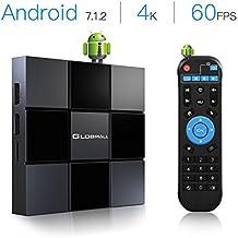 Globmall 2018 Nuevo TV Box Android 7.1 X3 2GB RAM 8GB ROM Quad Core CPU Penta-Core GPU HDMI 2.0 4K H.265 WiFi Box Smart TV