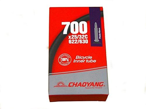 CYT 700x 25–32C/71,1cm Road, Fixie Bike Inner Tube F/V 48mm lang Presta (Fixie-bike Tube Inner)