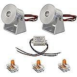 VBLED® 1W Mini Aufbau-Strahler Rotier- & Schwenkbar 200° 80lm warmweiß 12V IP20 (2er-Set)
