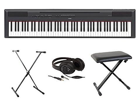 Yamaha P255 - Pianos numériques YAMAHA FULL PACK P115 NOIR