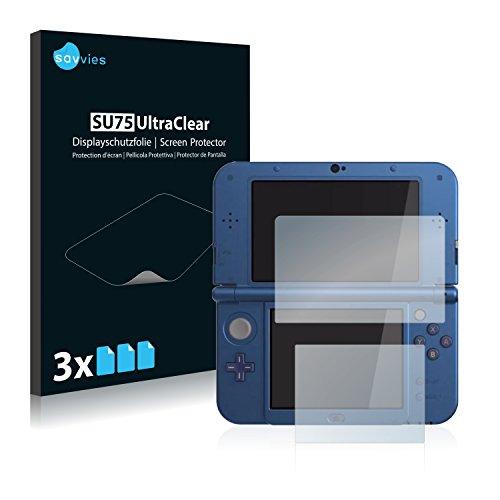 6x Savvies Displayschutzfolie für Nintendo New 3DS XL Folie Schutzfolie Displayfolie - Klar